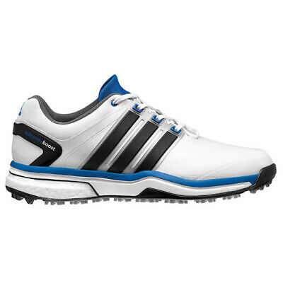 NEW Adidas Mens ADIPOWER BOOST Golf Shoes White / Black / Blue Size 11.5 M