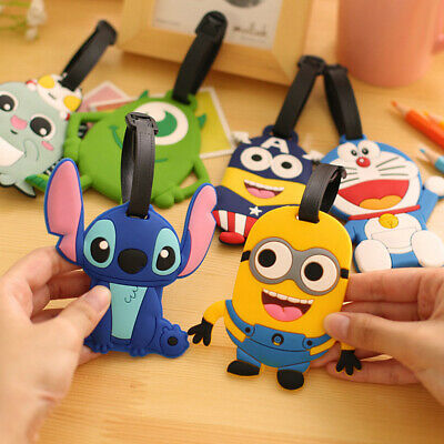 Silicone Cartoon Travel Luggage ID Tags Suitcase Baggage Label Name Address