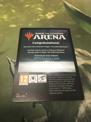 Mtg Throne of Eldraine Arena Code 6 Booster Packs EMAIL ONLY LIMIT 1 PER ACCOUNT