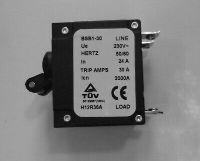 2 Pole Generator Circuit Breaker 30 Trip Amp In BSB1 fast shipping from USA
