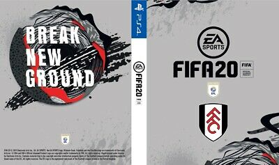 Fifa 20 Fulham FC Cover for PS4 Playstation 4 Premier League Game Sleeve Print