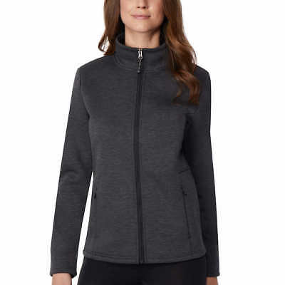 32 Degrees Women's Plush Lined Tech Fleece Jacket Heather Black Small(4-6) New