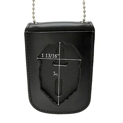 THP  Recessed Belt Clip Badge Holder Shield  style with Pocket and Neck Chain149