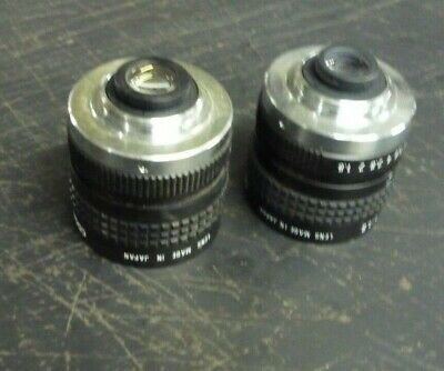 Lot of 2x Cosmicar television lens- 8.5mm 1:1.5 & 12.5mm 1:1.8