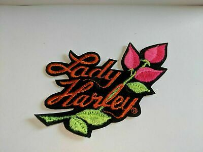 Vintage Harley Davidson Lady Rose Patch Retired Authentic 3 X 3)