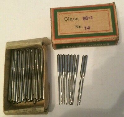 Singer vintage sewing machine class  86 x 1 Needles x 10 size 14