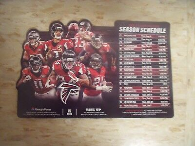 2016 Atlanta Falcons NFL Georgia Power official team issued magnet schedule