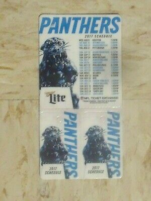 2017 Carolina Panthers Miller Lite official team magnet schedule w 2 key tags