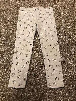 Cat & Jack Size 3T Kitty Cat Leggings Gray Pants Bottoms Girls