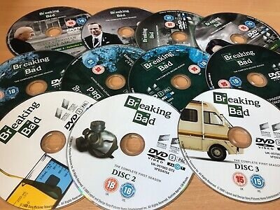 Breaking Bad: Series 1-3 - Complete (DVD, 2010, 11- Disc Set, Box Set) DISC ONLY