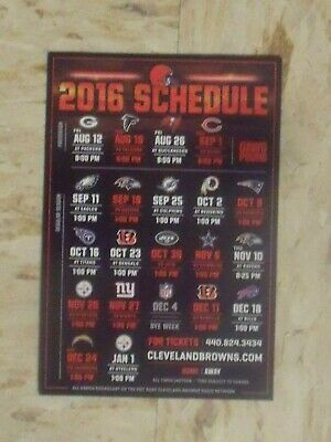 2016 Cleveland Browns (National Football League) official team magnet schedule