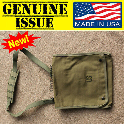 GENUINE US MILITARY CANVAS MAP CASE BAG SLING Pouch Photograph Shoulder ARMY GI