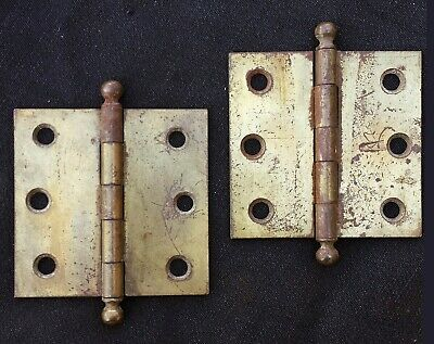 "6 Pair available Antique Vintage Old 2.5""x2.5"" Stanley Window Cabinet Door Hinge"