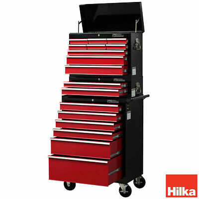 Heavy Duty Tool Trolley Cart Portable 17 Drawer Lockable Storage Chest Organiser