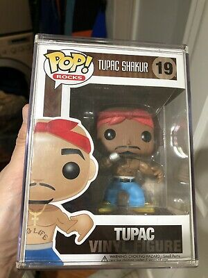 Funko Pop Rocks Tupac 2pac Vaulted No Eyebrows Error Variant #19 Authentic