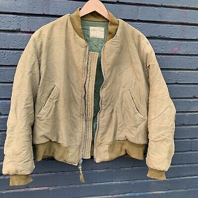 VINTAGE US ARMY ARMORED TANK TANKER JACKET WW2 40s 50s Military Conmar Quilted