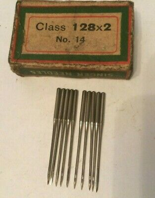 Singer vintage sewing machine class  128 x 2 Needles x 10 size 14