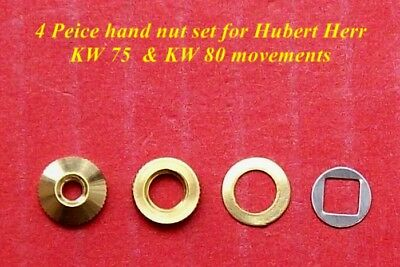 Hubert Herr,  New cuckoo clock hand nuts, 4 pieces for KW 75 & KW 80 movements.
