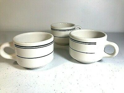 Vintage MISPRINT Homer Laughlin Restaurant Ware Best China White Green Cups - 3