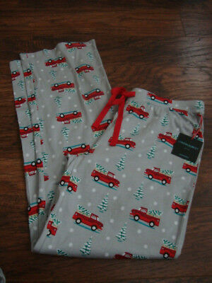red truck Christmas Cynthia Rowley ladies pajama/lounge pants-size Xsmall