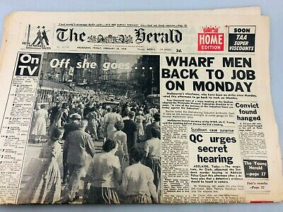 The Herald Newspaper 1958 - The Queen Mother Visit - Not Complete - Royal Family