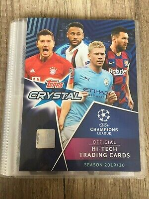 Topps UEFA Champions League 2019/20 Crystal Empty Binder TCG cards Hi-tech