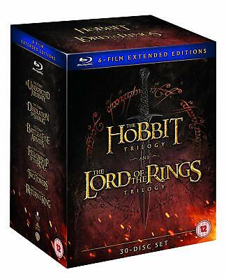 Middle Earth 6-Film Extended Edition Set (Blu-ray) Hobbit Lord of the Rings