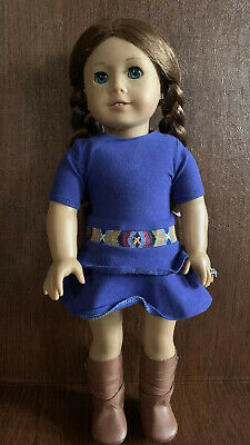 """American Girl 18"""" Saige W/Pierced Ears, Book & Extra Outfit - Retired 2013"""