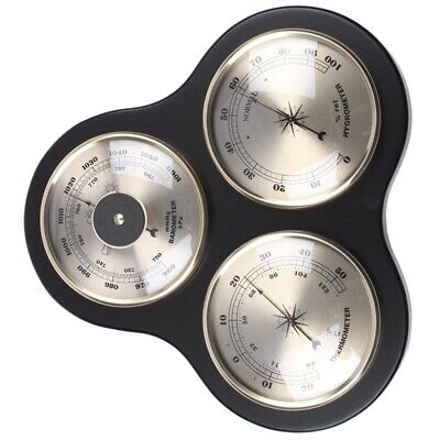 3Pcs/Set e Hygrometer Manometer Thermometer Barometer with Wooden Frame Bas X3X5