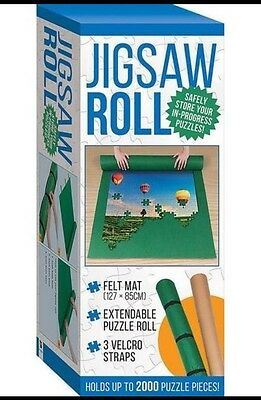Jigsaw Roll Felt Mat - Safely Store Your In-Progress Puzzles by Hinkler