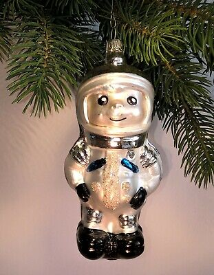 Thuringian christmas tree glass decoration - Astronaut silver - Made in Germany