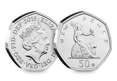 Royal Mint 50 Years of the 50p 2019 BU A Minting 1st.Special features In Hand !!