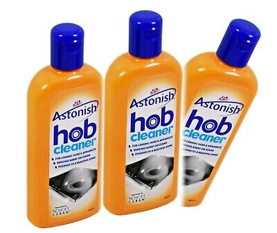 3 x Astonish Specialist Hob and Cooktop Cleaner with Sponge   *1018