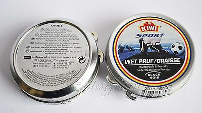 KIWI SPORT BLACK SHOE POLISH WET PRUF WATERPROOFS & PROTECTS 50ml FAST DELIVERY