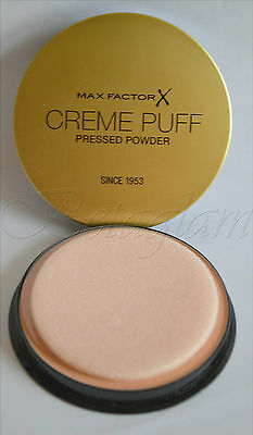 Max Factor Creme Puff Pressed Powder Foundation Compact Wipe Free Fast Delivery