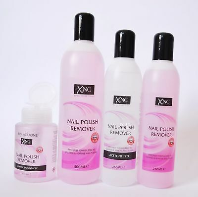 XNC NAIL POLISH VARNISH REMOVER ACETONE 200ml 400ml UK FREE FAST DELIVERY
