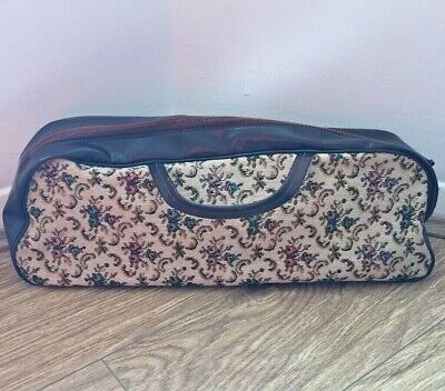 Vintage Long Tapestry Material Knitting Needle Crochet Craft Bag Mary Poppins