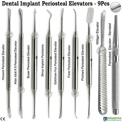 MEDENTRA® Periosteal Elevators Dental Implant Oral Surgery Retracting Reflecting