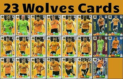 Panini Premier League 19/20 Wolverhampton 18 Card Team Set And 5 Special Cards
