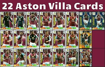 Panini Premier League 19/20 Aston Villa 18 Card Team Set And 4 Special Cards