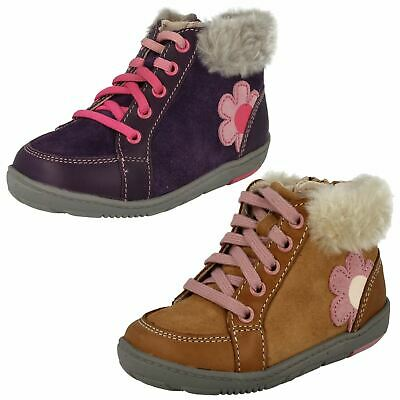 Girls Clarks Ankle Boot First Shoes Maxi Fleur