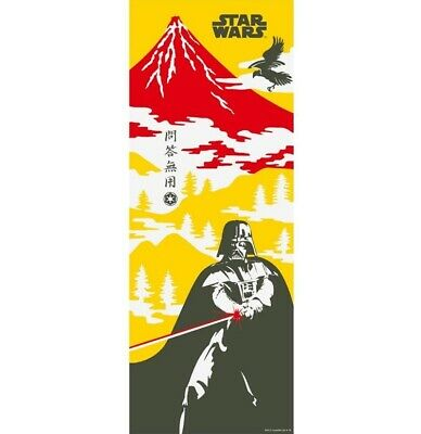 STAR WARS TENUGUI Japanese Cotton Fabric Hand Towel MADE IN JAPAN 90X34cm T31