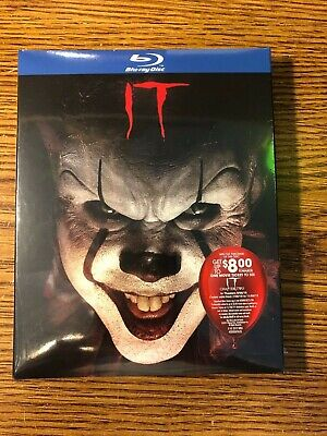 IT Blu-ray 2019 NEW Steven King Horror Pennywise + Rare Limited Slipcover SEALED