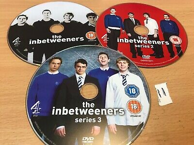 The Inbetweeners - Series 1-3 - Complete (DVD, 2010, 3-Disc Set) DISC ONLY