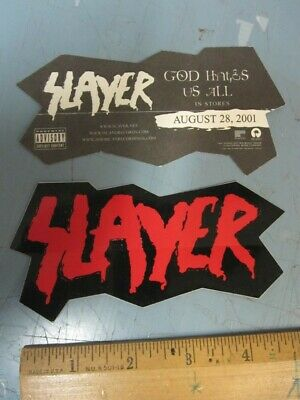 Slayer 2001 God Hates Us All promotional sticker Flawless New old stock