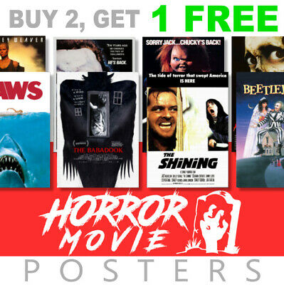 Classic Scary Horror Movie Posters, A4 - A3 270gsm, Prints Poster Art film Wall