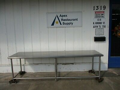 All Stainless Steel Table 108'' x 30'' #4554