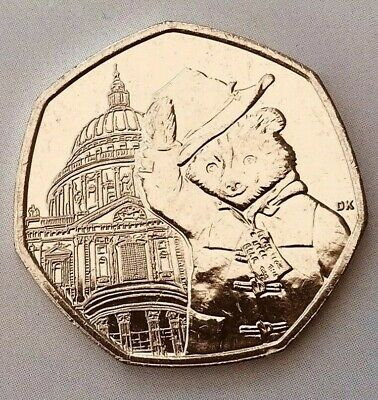 St Pauls Cathedral Paddington Bear 50p coin 2019 Uncirculated From Sealed Bag.