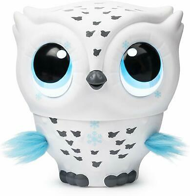 Owleez, Flying Baby Owl Interactive Toy with Lights & Sounds (White) In Hand