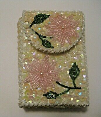 VINTAGE 1960's FLOWERED TOBACCO CIGARETTE HARD CASE ~ VERY C@@L !